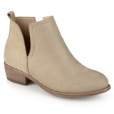 Brinley Co. Womens Womens Wide Width Faux Suede Cut-out Round Toe Boots