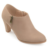 Brinley Co. Womens Sadra Faux Suede Low-cut Comfort-sole Ankle Booties