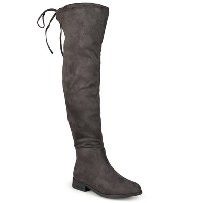 Brinley Co. Womens Wide Calf Faux Suede Over-the-knee Boots