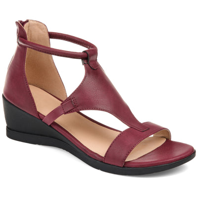 Brinley Co. Womens Caged Sandal Wedge