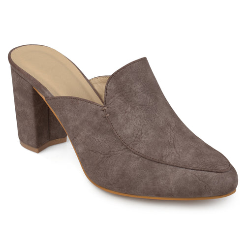 2cc33082527 Womens Thirza Block Heel Distressed Loafer Mules  Brinley Co. Womens Thirza  Block Heel Distressed Loafer Mules ...