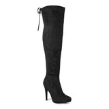 Brinley Co. Womens High Heel Over-the-knee Boots