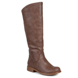 Brinley Co. Womens Regular and Wide-Calf Riding Knee-High Boot