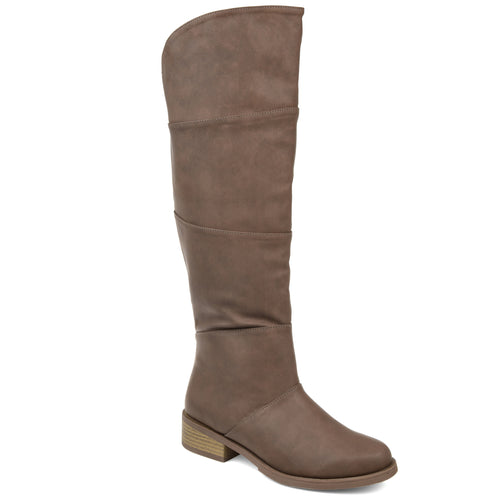 Comfort by Brinley Co. Womens Faux Leather Knee-high Boot