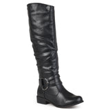 Brinley Co. Womens Regular and Wide-Calf Knee-High Riding Boot