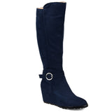 Comfort by Brinley Co. Womens Microsuede Wedge Boot