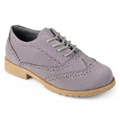 Brinley Kids Little Boy Faux Suede Wingtip Lace-up Dress Oxfords