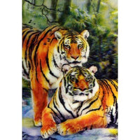 Tiger Family in Spring