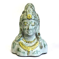 Antique Terracotta Buddha Head - Grey