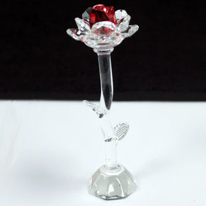 Crystal Rose - Red - Height 140mm