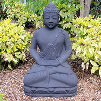 Meditating Buddha in Black - 80cm