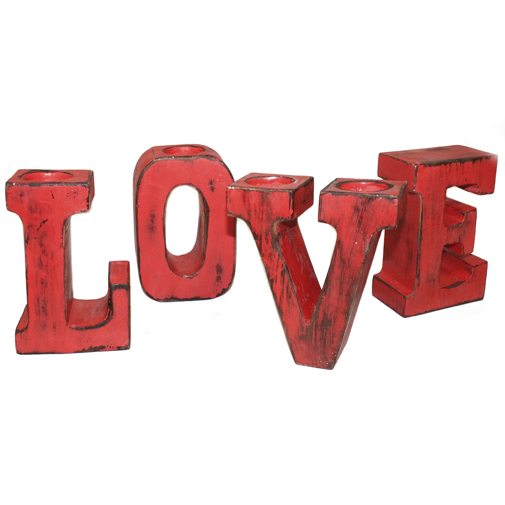 Big Letters - LOVE - Redwash