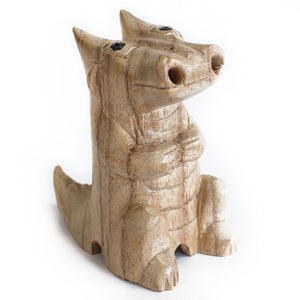 Wooden Carved Incense Burners - Small Dragon