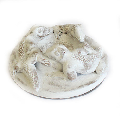 Antique Terracotta - Gecko Candle Holder - White