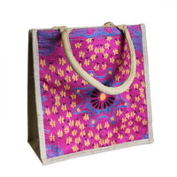 Sml Shopping Bag Pink Alpana