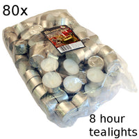 80x Tealights - 8 hour