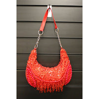 Retro Shimmy Bag - Red