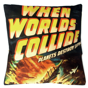 Vintage Cushion Cover-When Worlds Collide