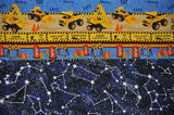 Construction Heavy Machinery with Blue Cotton Constellations