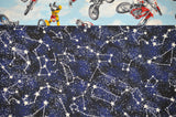Dirt Bike Tricks with Blue Cotton Constellations