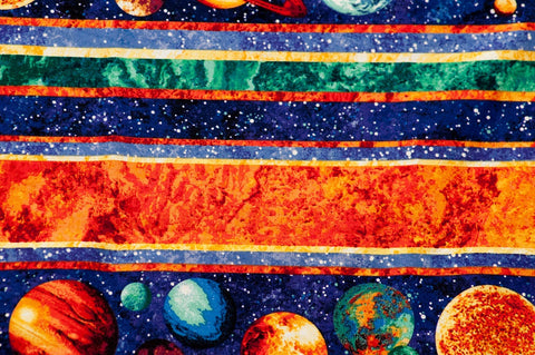Cotton Multicolor Planets Pillowcase