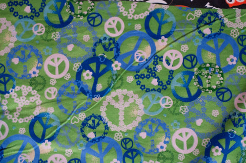 Green Flannel Peace Signs