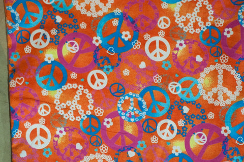 Orange Flannel Peace signs