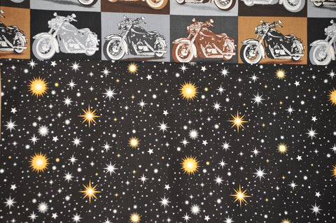 Vintage Motorcycles with Black Cotton Stars