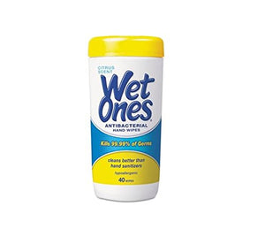 Wet Ones anti bacterial 40 ct wipe