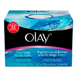 Olay 2 in 1 face 33 ct cleaning cloth