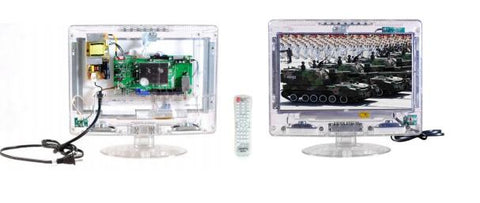 "Axess Clear See-through Tamper Resistant 13"" TV For Use In Prisons/Detention Center TV1702-13CL"