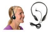 Mono/Stereo Medical Grade HealthCare Headphones w/ Replaceable Ear Pads