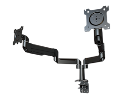 DSA22C Dual Monitor Adjustable Arm Mount with Clamp Base