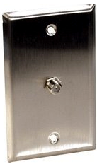 WPA-0198 Curbell Single Coax Stainless Wall Plate