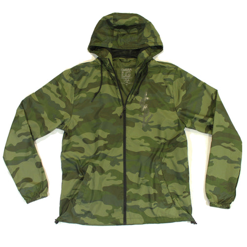 ISVERA CAMO ZIP WINDBREAKER // ARMY CAMO