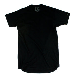 ISVERA LONG BLANK URBAN TSHIRT // BLACK