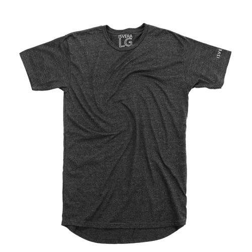 ISVERA LONG BLANK URBAN TSHIRT // CHARCOAL HEATHER GREY