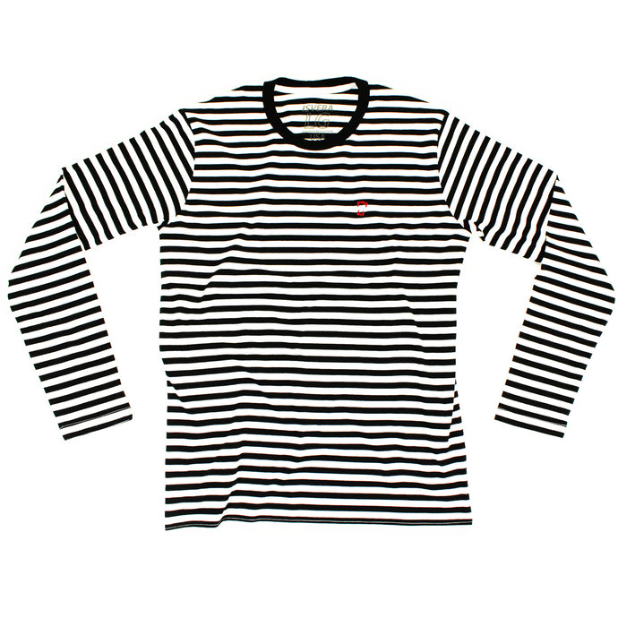 ISVERA STRIPED LONG SLEEVE TSHIRT // BLACK & WHITE
