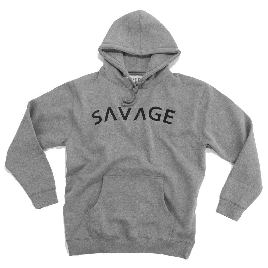ISVERA SAVAGE PULLOVER HOODIE // ATHLETIC HEATHER GREY