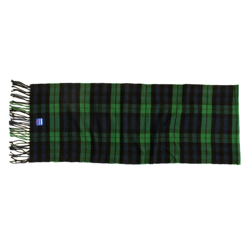 ISVERA SCARF // NAVY & GREEN PLAID