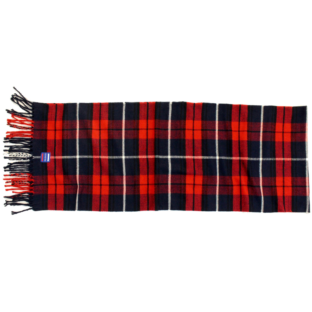 ISVERA SCARF // NAVY & RED PLAID