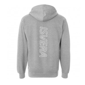 PREORDER ISVERA VICTORY PULLOVER HOODIE // ATHLETIC HEATHER GREY
