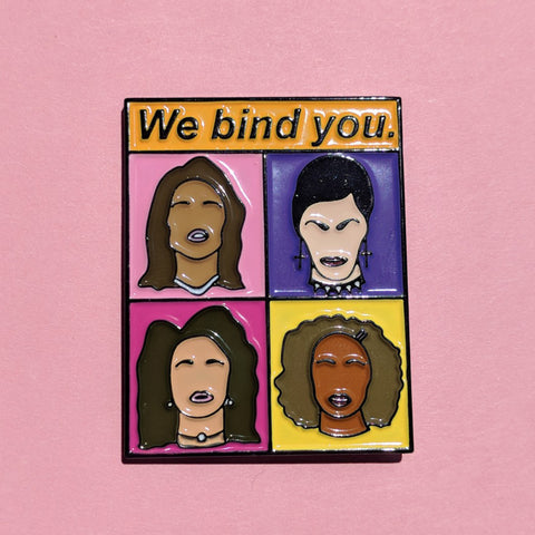 "Slightly Imperfect  ""The Craft"" Movie Inspired 'We Bind You Fascists' Pin"