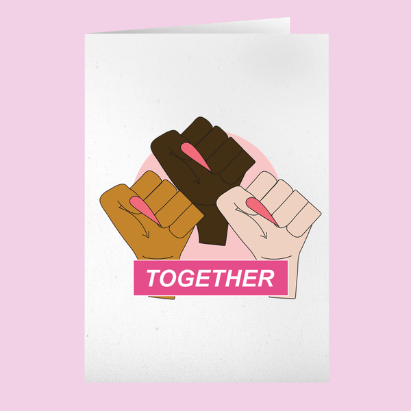 Solidarity Fist Together Notecard