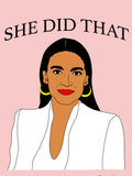 AOC, Nancy Pelosi, RBG - Women's History Month Free Downloadable Poster 3-Pack