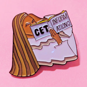 Slightly Imperfect Beyonce Inspired Get Information Pin