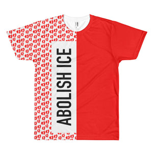 Abolish ICE Red Leopard Print T-Shirt