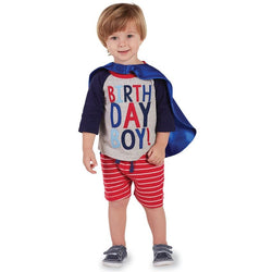 Birthday Boy T-Shirt and Cape Set | Age 1-3  - Country N More Gifts
