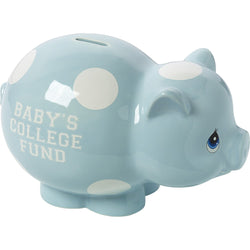 Baby's College Fund - Ceramic Piggy Bank (Boy)  - Country N More Gifts