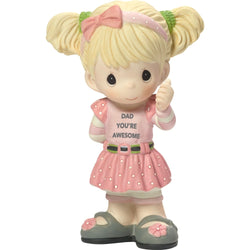 Dad You're Awesome - Bisque Porcelain Figurine (Girl)  - Country N More Gifts